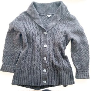 Eddie Bauer chunky knit gray button up cardigan